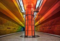 Munich tunnelbana Royaltyfria Bilder