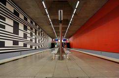 Munich tunnelbana Arkivfoton