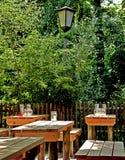 Munich Tyskland - ölträdgård på sommartid Royaltyfri Bild
