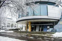 Munich Tyskland - Februari 18 2018: Den tyska Bundesbanken varnar mot följder av svart noll Arkivbilder