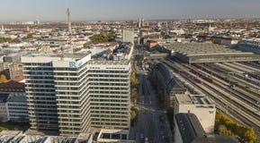 Munich Tyskland 17/10/2017: Högkvarter av den offentliga TV-presentatör ARD/Bayerische Rundfunk i Munich Royaltyfri Fotografi
