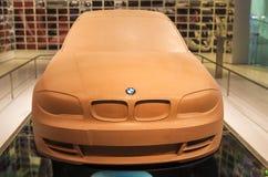 Munich Tyskland juni 17, 2012: BMW 3rd serie Clay Model på Sta Royaltyfri Foto