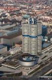Munich Tyskland - mars 10, 2016: BMW högkvarter i Munich Arkivfoto