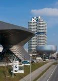 Munich Tyskland - mars 10, 2016: BMW högkvarter i Munich Arkivbilder