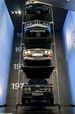 Munich Tyskland - mars 10, 2016: samling av klassiska bilar på skärm i BMW museet Royaltyfria Bilder