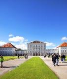 Munich Tyskland - Nymphenburg slott Fotografering för Bildbyråer