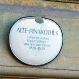 Munich Tyskland - Oktober 20, 2017: Byggnad av Alte Pinakothek Fotografering för Bildbyråer