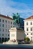 Munich Tyskland - Oktober 20, 2017: Rid- staty av Ludwig Arkivbilder