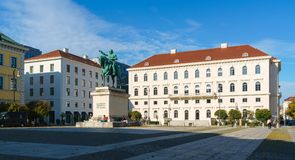 Munich Tyskland - Oktober 20, 2017: Rid- staty av Ludwig Royaltyfria Bilder