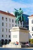 Munich Tyskland - Oktober 20, 2017: Rid- staty av Ludwig Royaltyfri Bild