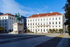 Munich Tyskland - Oktober 20, 2017: Rid- staty av Ludwig Royaltyfri Foto