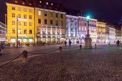 Munich Tyskland - Oktober 20, 2017: Spatenhaus på Maximal-Joseph-plommoner Royaltyfria Foton