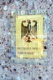 Munich Tyskland - Oktober 20, 2017: Väggskylt av Germaen Royaltyfri Bild