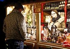 Munich Tysklandjul marknadsför på Harass, likörer och brännvin Arkivfoton