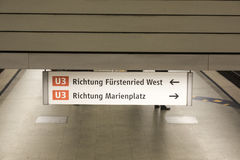 Munich U-Bahn Stock Photo