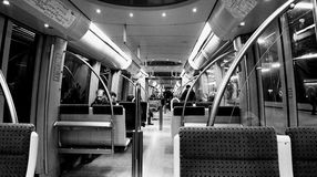 Munich, underground train in the night Stock Photography