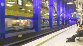 Munich underjordiskt stopp Arkivfoto