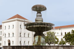 Munich University fountain Royalty Free Stock Images