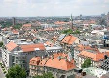 Munich velho. Vista acima de 3 fotos de stock
