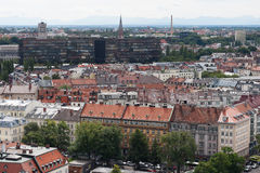 Munich. View from St. Peter's Church stock image