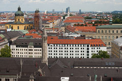 Munich. View from St. Peter's Church Stock Photography