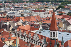 Munich view from St. Peter's Church. The Old City Hall in Munich, Germany Royalty Free Stock Photo