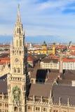 Munich, ville hôtel gothique chez Marienplatz, Bavière images stock