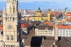 Munich, ville hôtel gothique chez Marienplatz, Bavière photos libres de droits