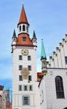 Munich Zodiac Clock Tower Stock Image