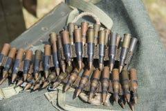 munición a las ametralladoras Imagenes de archivo