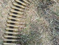 munición a las ametralladoras Imagen de archivo