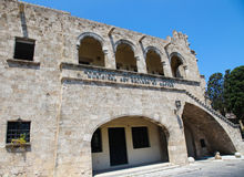 Municipal Art Gallery in the city of Rhodes, Greece Royalty Free Stock Photo