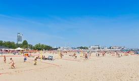 Municipal beach in Gdynia, Baltic sea, Poland Stock Photography
