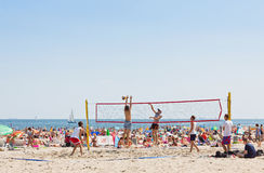 Municipal beach in Gdynia, Baltic sea, Poland Stock Image