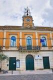 Municipal building. Calimera. Puglia. Italy. Royalty Free Stock Photos