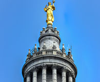 Municipal Building - New York City. Civic Fame Statue on the Municipal Building in New York City, a 40-story building built to accommodate increased governmental Royalty Free Stock Photos