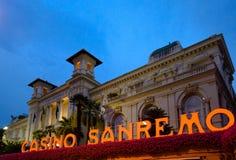 The Municipal Casino in Sanremo, Italy. Stock Image