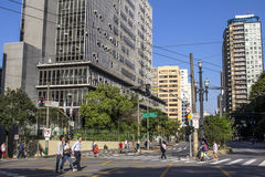 Municipal chamber. Sao Paulo, Brazil, September 23, 2016. View of building municipal chamber of aldermen of the Sao Paulo city Royalty Free Stock Photography