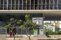 Municipal chamber. Sao Paulo, Brazil, September 23, 2016. View of building municipal chamber of aldermen of the Sao Paulo city Stock Photo