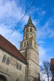 Municipal church - II - Schorndorf - Germany. Schorndorf is a town in Baden-Würtemberg, Germany, located approx. 26 km east of Stuttgart. This photo shows the Royalty Free Stock Photos
