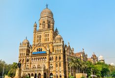 Municipal Corporation Building. Built in 1893, it is a heritage building in Mumbai, India Royalty Free Stock Photography