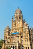 Municipal Corporation Building with statue of Phiroz Shah Mehta. Built in 1893, it is a heritage building in Mumbai Stock Image