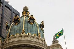 Municipal de Theatro de Rio de Janeiro - détail architectural image stock