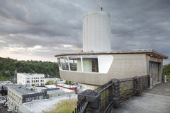 Municipal Elevator Observation Deck in Oregon City Stock Image