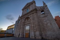 Municipal file of Valladolid. San Agustin`s church sedates of the municipal File of Valladolid in Spain stock images