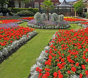 Municipal Gardens. In the town centre of Newcastle under Lyme, Staffordshire, England Royalty Free Stock Image