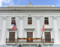 Municipal Government Building - San Juan. The Municipal Government Building of San Juan, Puerto Rico, built in the colonial style stock photo