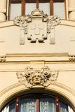 Municipal house architectonic detail, Art Nouveau, Prague, Czech Republic, sunny summer day. Municipal house architectonic detail, Art Noveau, Prague, Czech royalty free stock photography