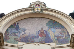 Municipal House,  mosaic, Prague, Czech Republic Stock Photography