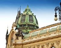 Municipal House and Powder Gate in Prague Stock Photo
